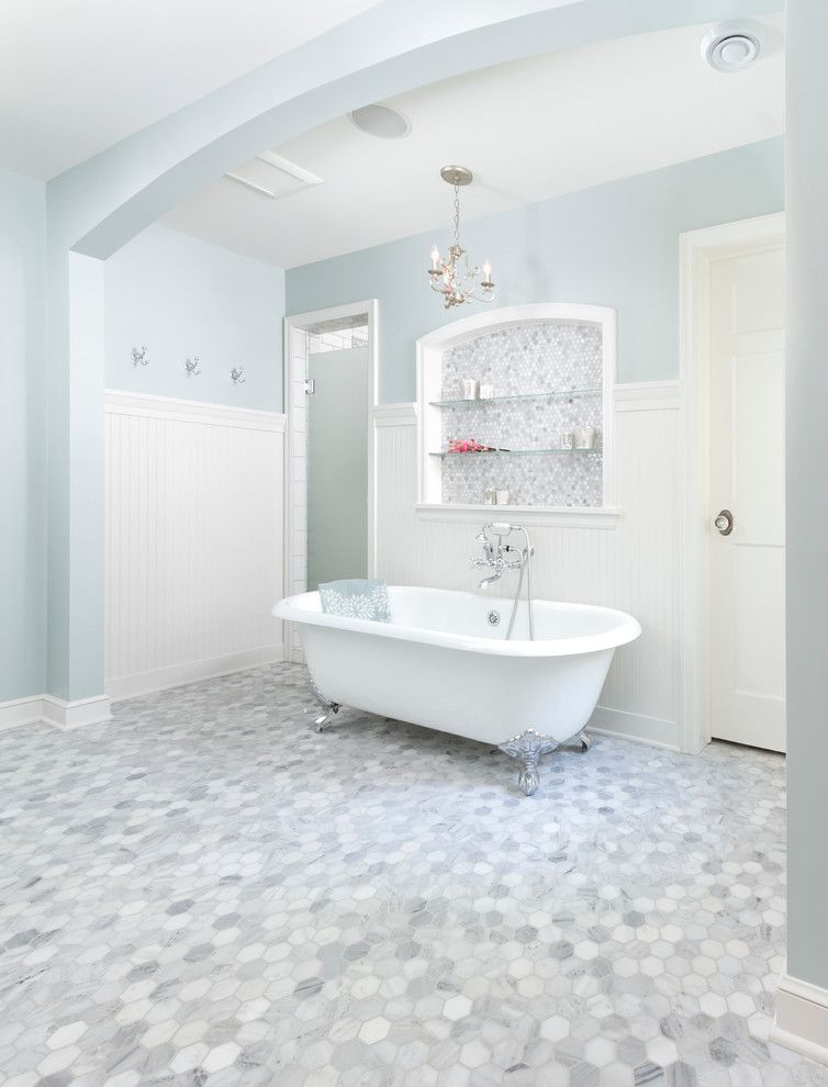 Tardis Blue Paint for a Traditional Bathroom with a Airy and Minikahda Vista Cape Cod by Fluidesign Studio
