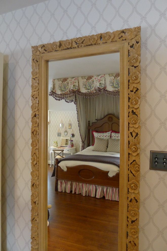 Tea and Crumpets for a Traditional Bedroom with a Drapery Trimming and Child's Bedroom by Susan Brook Interiors
