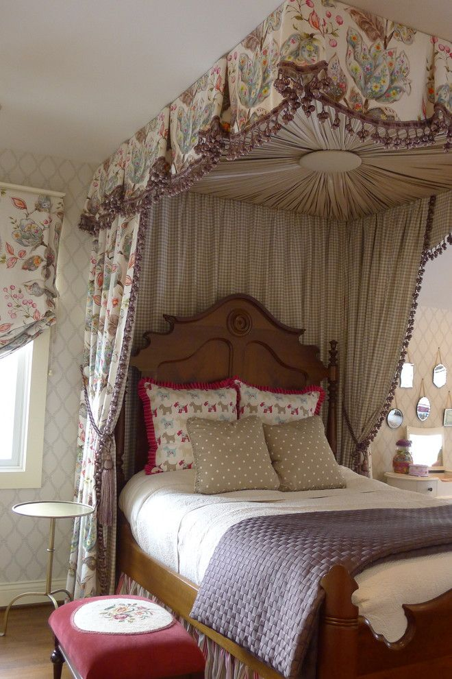 Tea and Crumpets for a Traditional Bedroom with a Maxwell Fabrics and Child's Bedroom by Susan Brook Interiors
