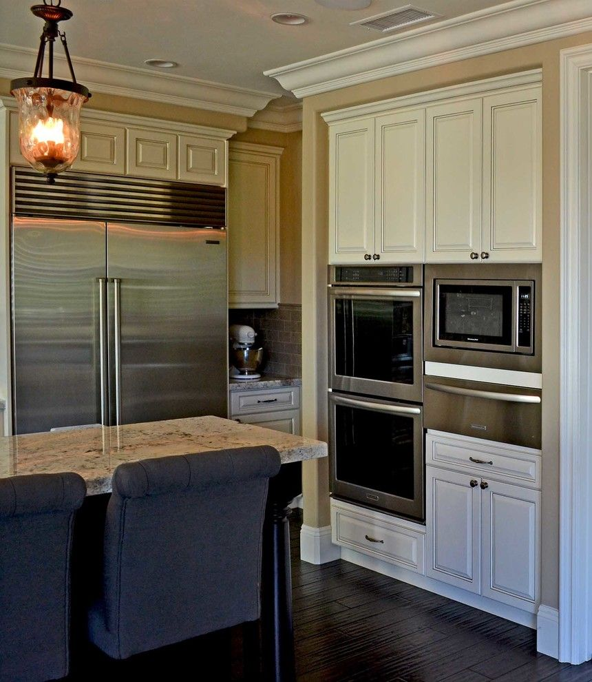 Temecula Theater for a Contemporary Kitchen with a Remodel and Antique White, Temecula, Ca. by Hk Custom Cabinets