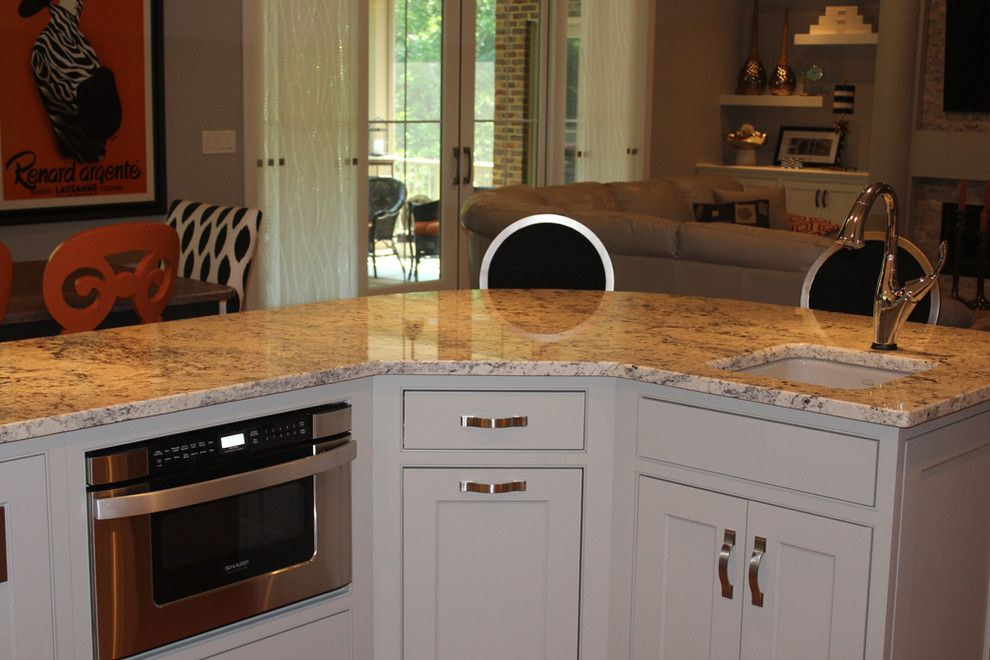 The Ashleys for a Eclectic Kitchen with a Island and Custom Home by Ashley Construction / Ashley Remodeling