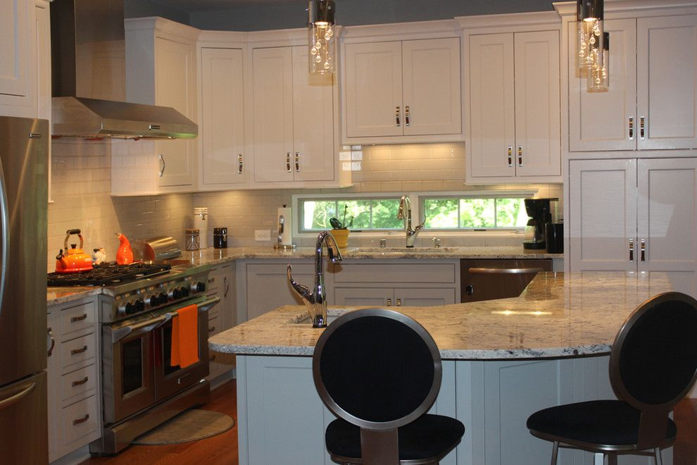 The Ashleys for a Eclectic Kitchen with a Windows Below Wall Cabinets and Custom Home by Ashley Construction / Ashley Remodeling
