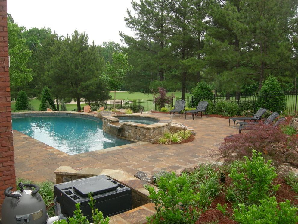 The Boulders Golf for a Traditional Landscape with a Pavers and Resort Style Backyard by Core Landscape Group