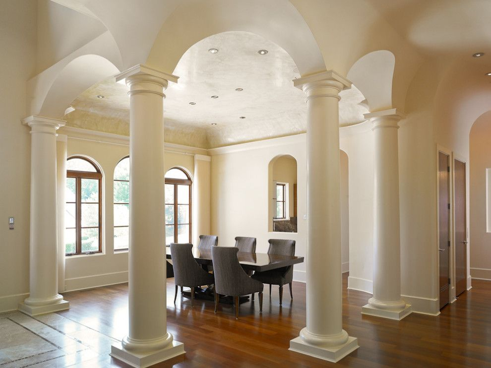 The Colonnade Atlanta for a Contemporary Dining Room with a Contemporary and Modern Mediterranean Estate  Atlanta by D.t. Hubbell Architects