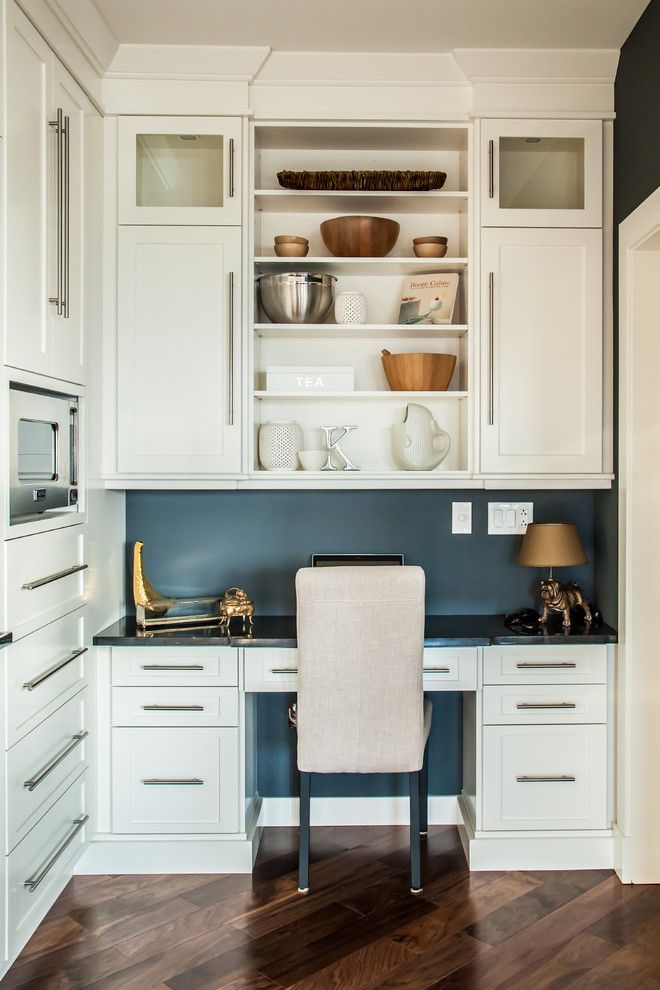 The Iron Giant Cast for a Contemporary Home Office with a Kitchen Office and Transitional Kitchen by Mod & Stanley Design Inc.