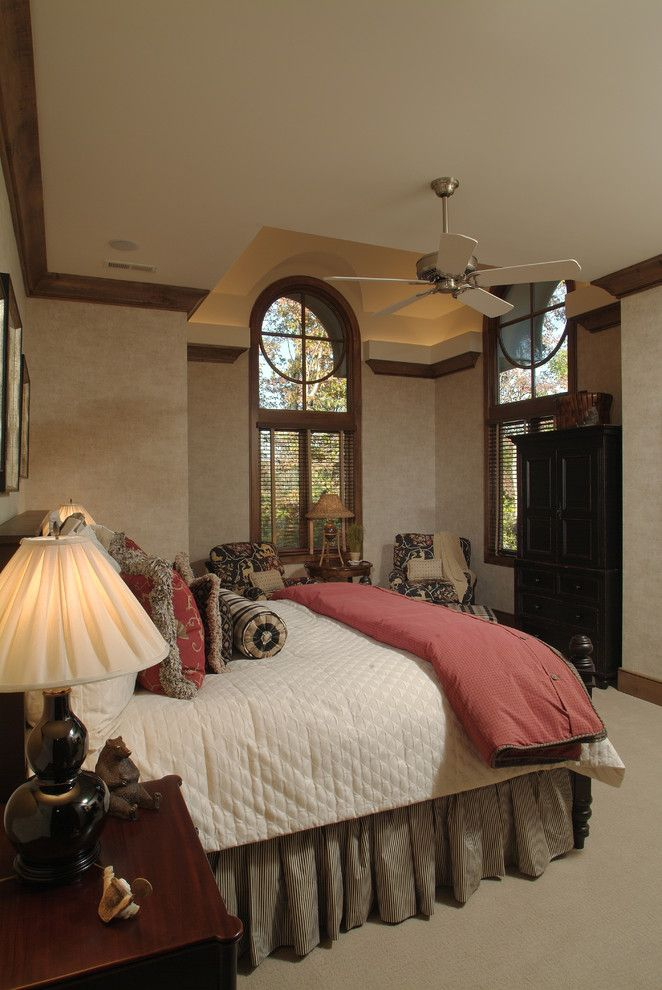 The Nook Atlanta for a Eclectic Bedroom with a Wood Trim and Mereside Bedroom by Ls3p | Neal Prince Studio