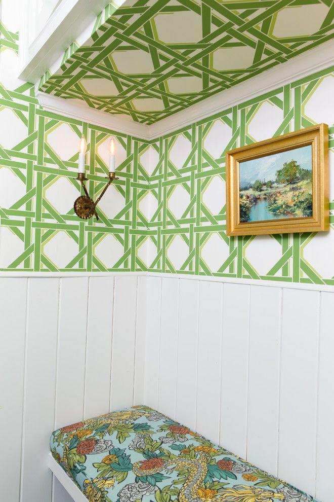 The Nook Atlanta for a Traditional Entry with a Green Accents and Bohler by Anna Braund