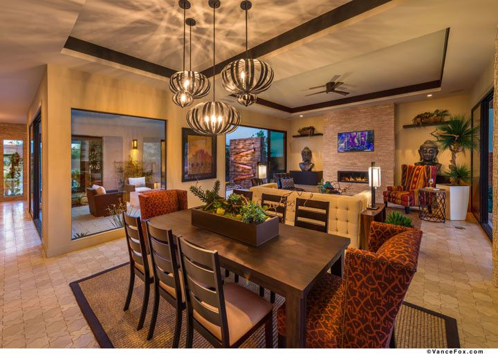 The Ridges Las Vegas for a  Dining Room with a  and the Grand Collection at Sterling Ridge in Las Vegas, Nevada by William Lyon Homes
