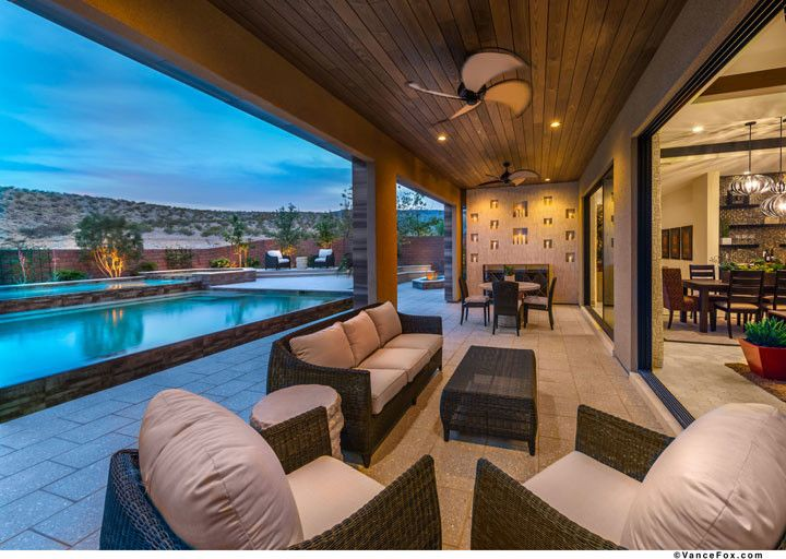 The Ridges Las Vegas for a  Patio with a  and the Grand Collection at Sterling Ridge in Las Vegas, Nevada by William Lyon Homes