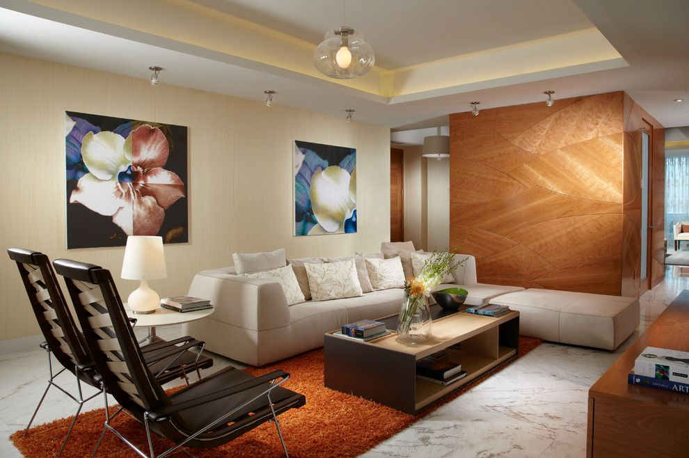 The Sanderling for a Contemporary Family Room with a Pendant Light and J Design Group   Miami Beach – Modern Interior Designer – The Bath Club by J Design Group   Interior Designers Miami   Modern