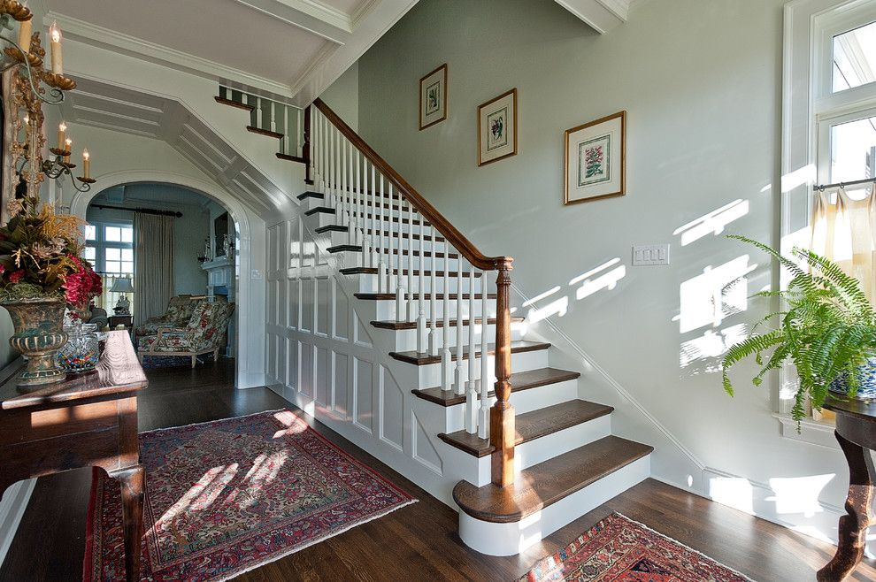 The Sanderling for a Traditional Entry with a Wood Flooring and Aviemore by v Fine Homes
