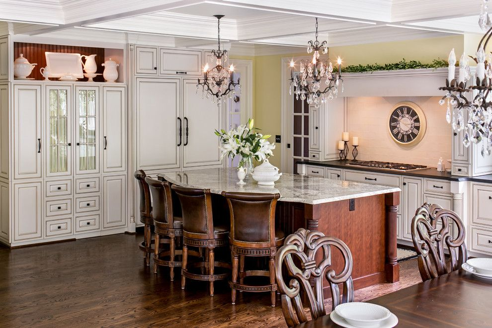 The Seasons of Cherry Creek for a Traditional Kitchen with a Wood Island and Thermador by Thermador Home Appliances