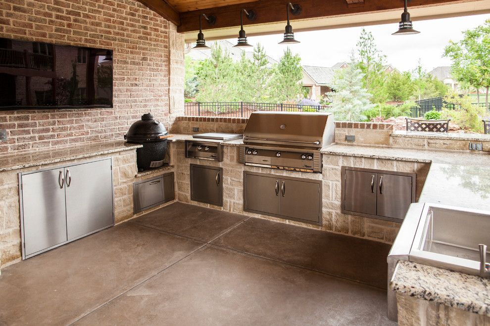 The Yard Wichita Ks for a Traditional Patio with a Grill and Outdoor Kitchen, Wichita, Ks. by All Things Barbecue