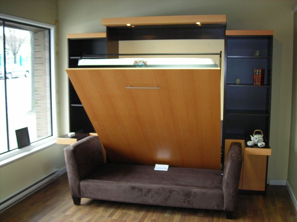 Thousand Oaks Theater for a Contemporary Home Theater with a Contemporary and Tv on Murphy Bed by Tom Bazin