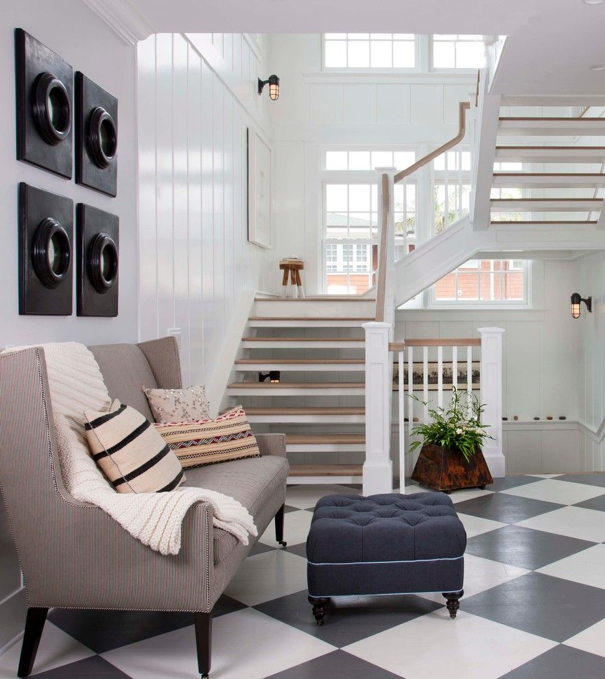 Thousand Steps Beach for a Beach Style Staircase with a Open Staircase and Coastal Living Magazine Showhouse 2014 by Flagg Coastal Homes