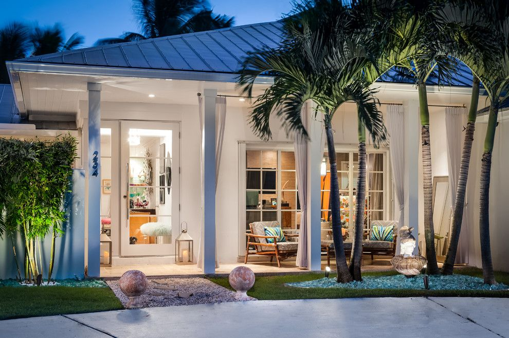 Thousand Steps Beach for a Contemporary Exterior with a Palm Tree and Palm Beach Bungalow by Jacki Mallick Designs, Llc.