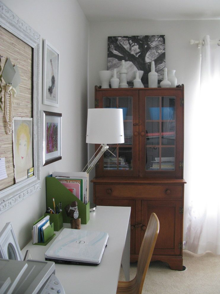 Thrift Stores Omaha for a Contemporary Spaces with a Armoire and Big Round Pizza Box Office by Shoshana Gosselin