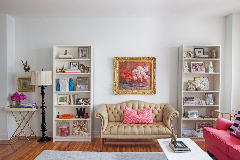 Thrift Stores Omaha for a Eclectic Living Room with a Sofa and Philadelphia Penthouse by Caitlin Wilson Design
