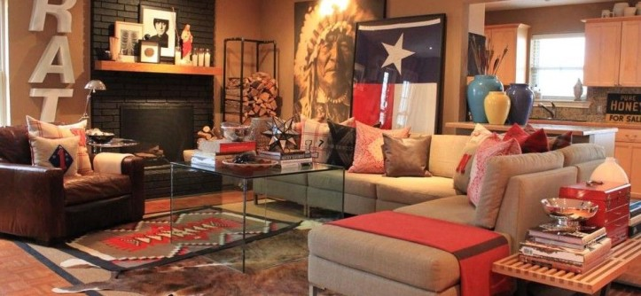 Thrift Stores Omaha for a Southwestern Living Room with a Rustic and Den by the Cavender Diary