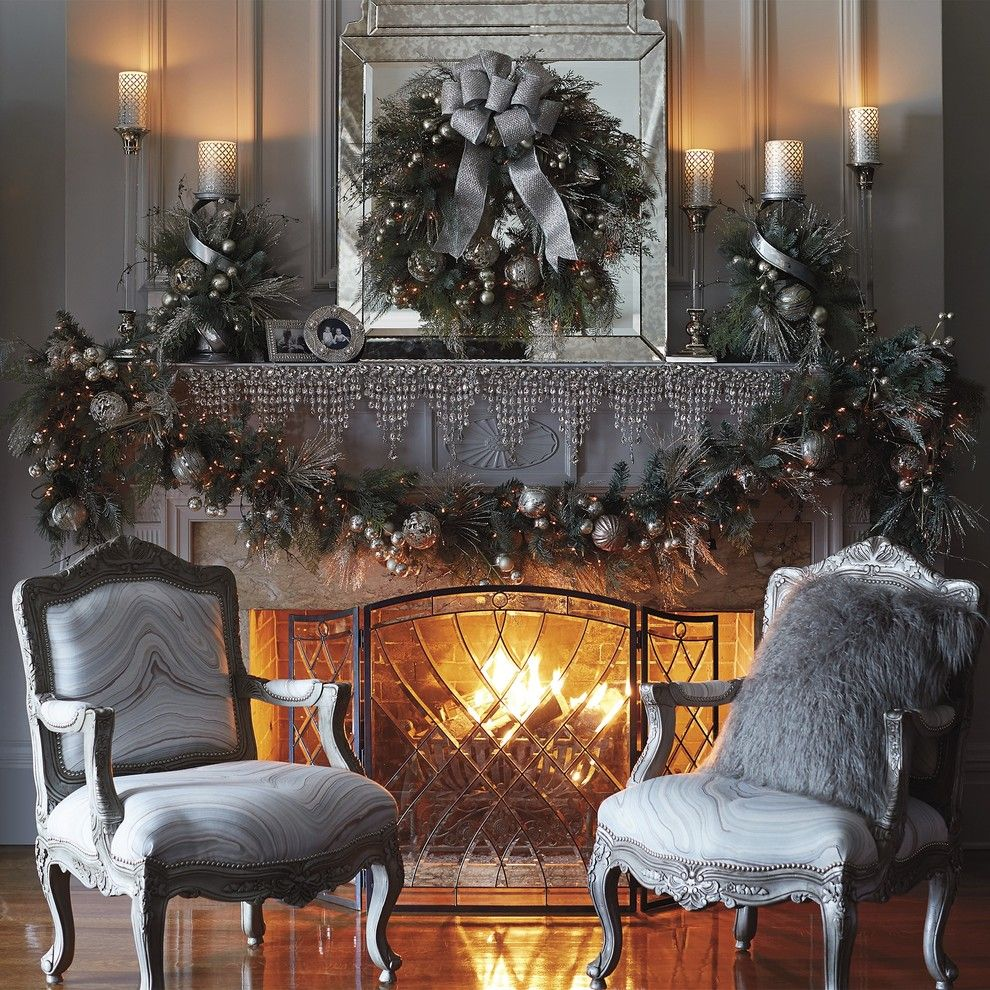 Thrift Stores Omaha for a Traditional Living Room with a Crystal Garland and Frontgate by Frontgate