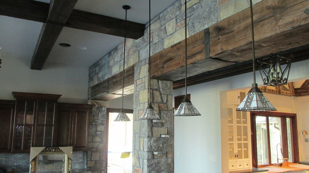 Tic Tac Shot for a Contemporary Kitchen with a Straps and Beams & Trusses by Green Valley Beam & Truss Co.