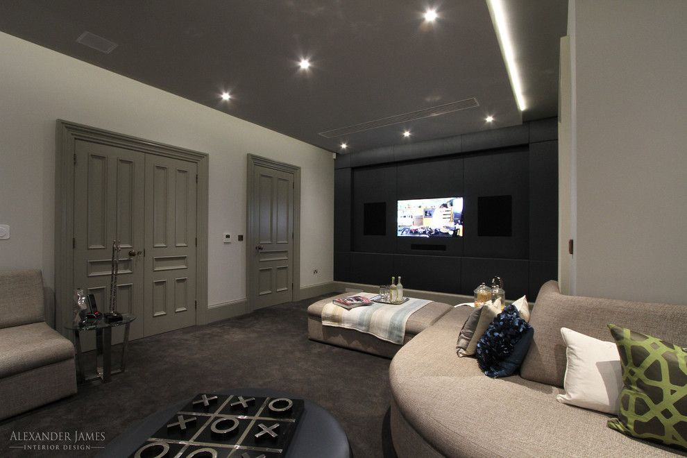 Tic Tac Shot for a Modern Living Room with a Family and Whincop   Cheam, Sutton Uk by Alexander James Interiors
