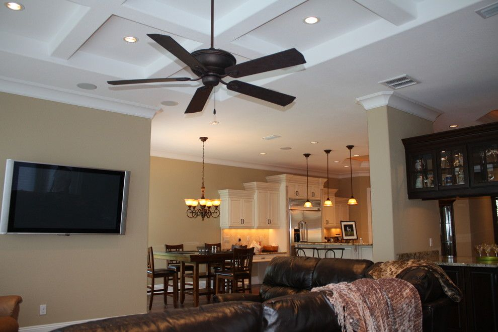 Tic Tac Shot for a Traditional Family Room with a Flatscreen and Swift Creek Dr. by Mack Custom Homes