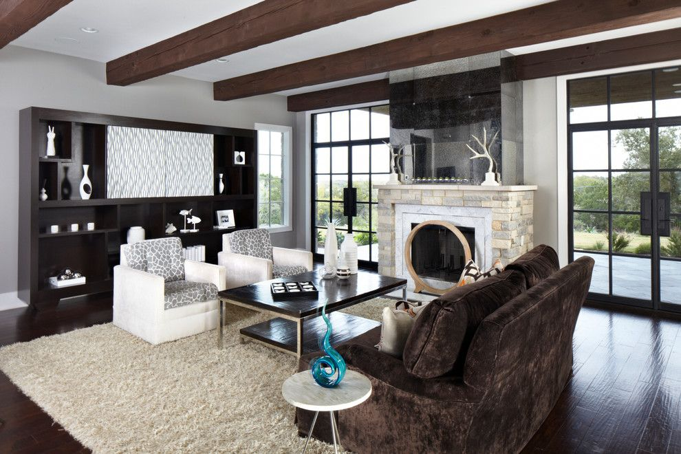 Tic Tac Shot for a Transitional Family Room with a Sofa and Cortona Living Room by Mangum Lewallen Construction, Llc
