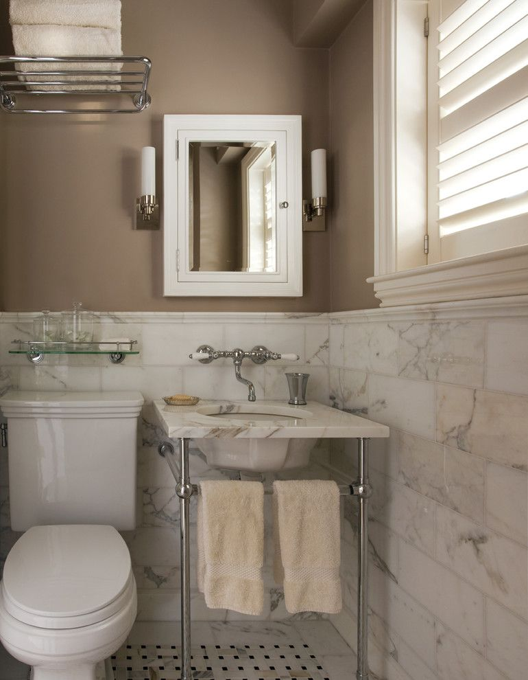 Tile and Stone Warehouse for a Traditional Bathroom with a Tile and Traditional Bath by Renovation Planning, Llc