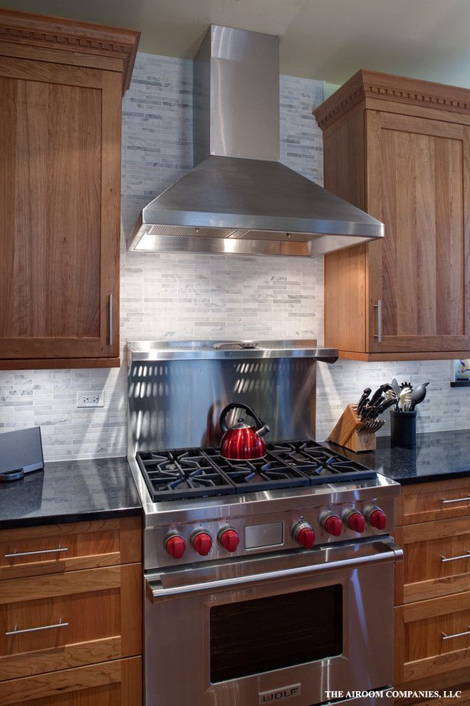 Tile Outlet Chicago for a Modern Kitchen with a Oven and Chicago Kitchen Remodel by Airoom Architects Builders Remodelers