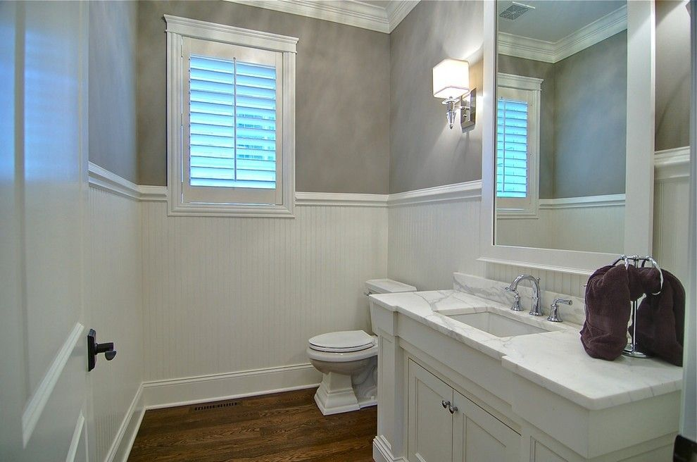Tile Outlet Chicago for a Traditional Powder Room with a Traditional and Bathrooms by Lakewest Custom Homes, Ltd.