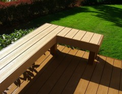 Timber Tech for a Craftsman Deck with a Cedar Deck and Deck and Rail Projects by Decks and Patio Covers