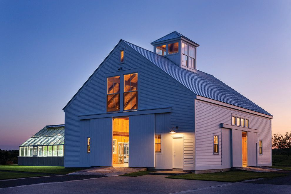 Timber Tech for a Farmhouse Exterior with a Architects Challenge and Berkshire Farmhouse by Marvin Windows and Doors