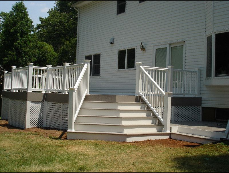 Timber Tech for a Traditional Spaces with a Deck and Warren Nj Azek Timbertech Deck by Deck Pros