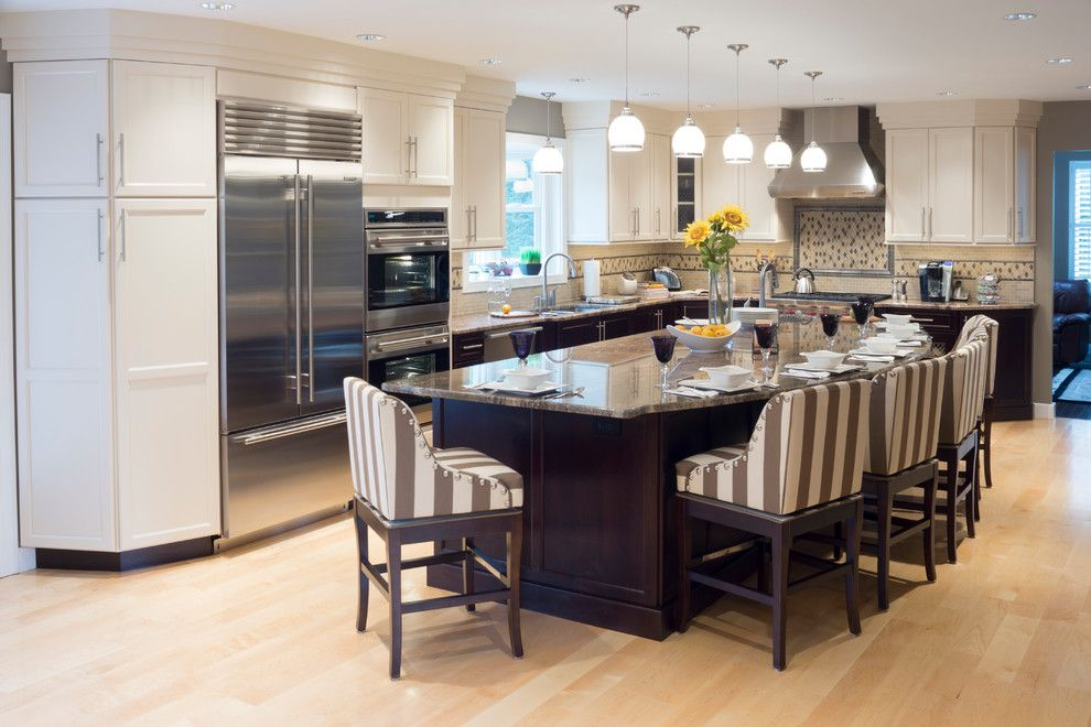 Timber Wolf Size for a Traditional Kitchen with a Pull Down Spray Faucet and Lincoln, Ri   Kitchen Remodel by Insperiors, Llc