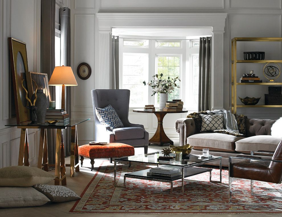 Timberlake Furniture for a Contemporary Living Room with a Bay Window and Safavieh by Safavieh