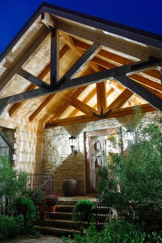 Timberlake Furniture for a Rustic Exterior with a Lake Home and the Barkely Family Home by Hearthstone Inc