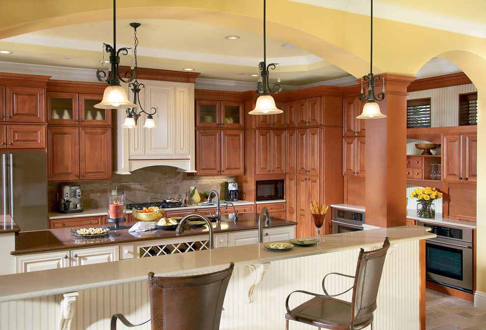 Timberlake Furniture for a Traditional Kitchen with a Tradtional Kitchen and Cabinets and Cabinetry by Elevations   Design Solutions by Myers