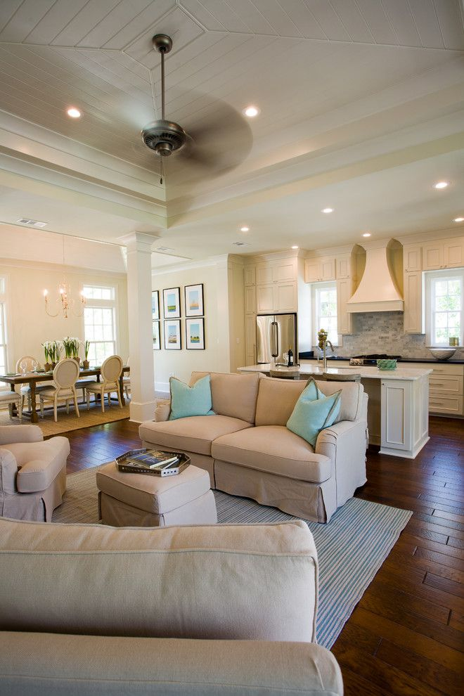 Times Square at Craig Ranch for a Traditional Living Room with a Subway Tile Backsplash and Functional Kitchen with Soothing Colors by Highland Homes, Inc.