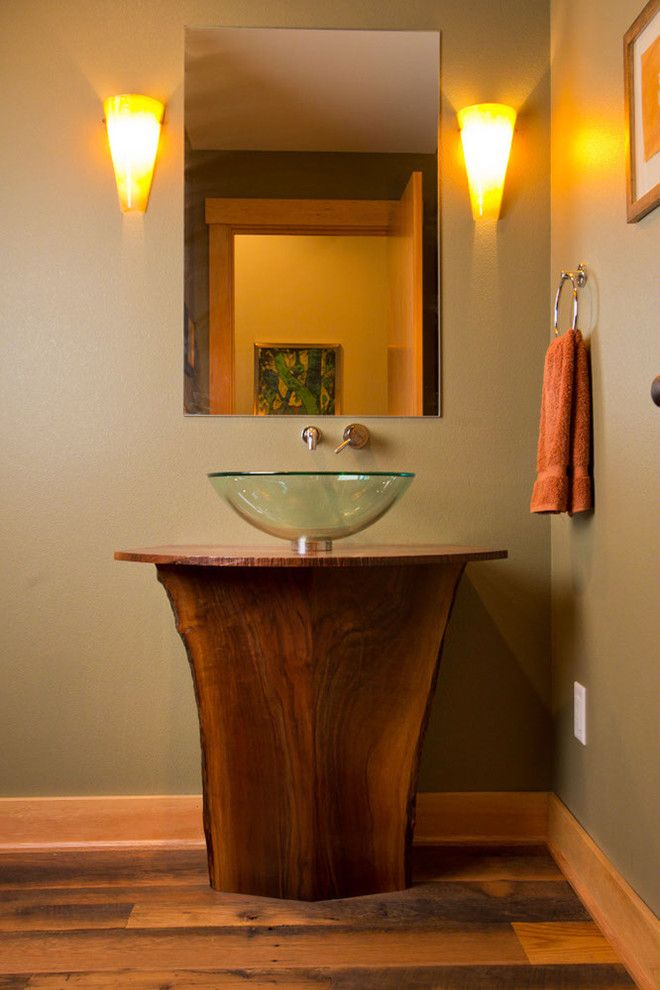 Tims Ford Lake for a Eclectic Bathroom with a Walnut and Lake Oswego Lake Remodel by Riverland Homes Inc