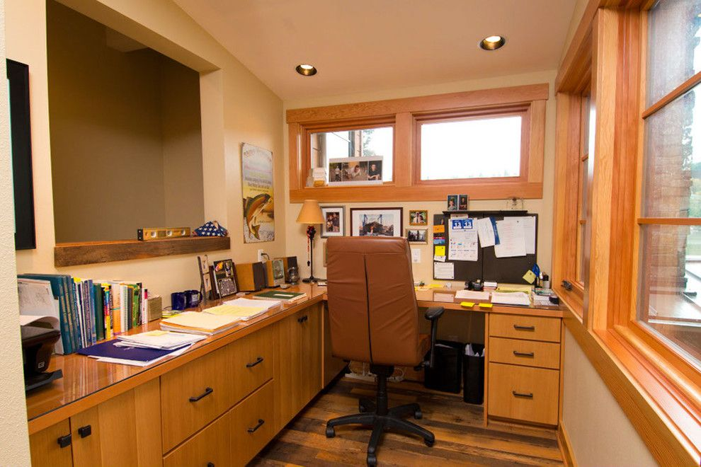 Tims Ford Lake for a Eclectic Home Office with a Portland Custom Home Builder and Lake Oswego Lake Remodel by Riverland Homes Inc