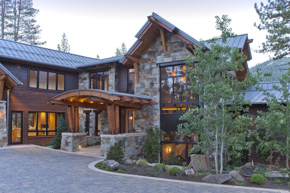 Tims Ford Lake for a Rustic Exterior with a Rustic and North Lake Tahoe Residence by Kelly & Stone Architects