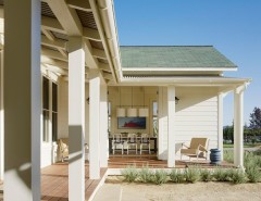 Tin Roof Rusted for a Farmhouse Porch with a Verandah and St. Helena Residence by Jennifer Robin Interiors