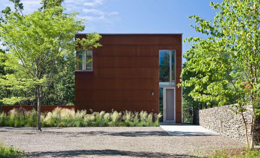 Tin Roof Rusted for a Industrial Exterior with a Corten and Dutchess County Contemporary Barn by Wagner Hodgson