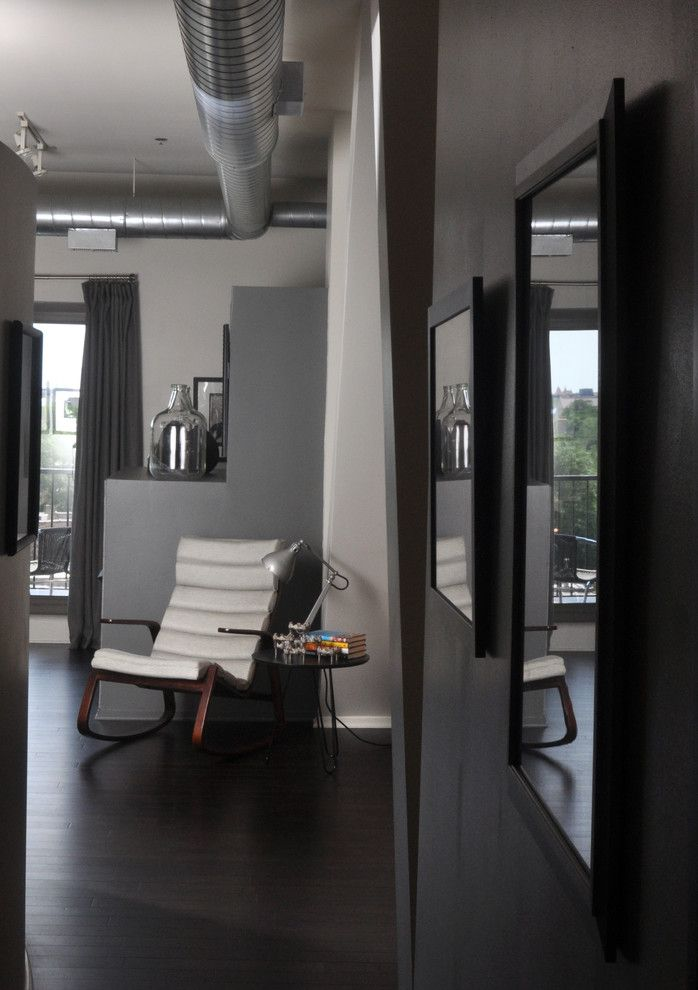 Tint Masters for a Industrial Living Room with a Neutral Colors and Hyde Park Loft by Nicholas Moriarty Interiors