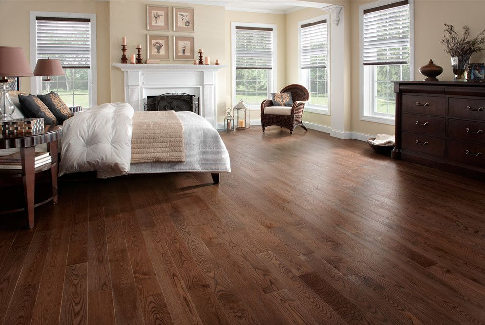 Tint Masters for a Traditional Bedroom with a Ash Brushed Hardwood and Hardwood Flooring by Demar