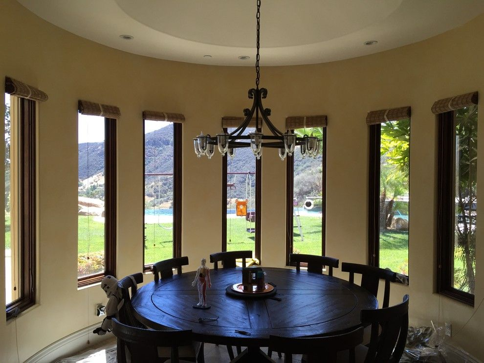 Tint Pros for a Transitional Dining Room with a Tint Pros and Our Work by the Tint Pros