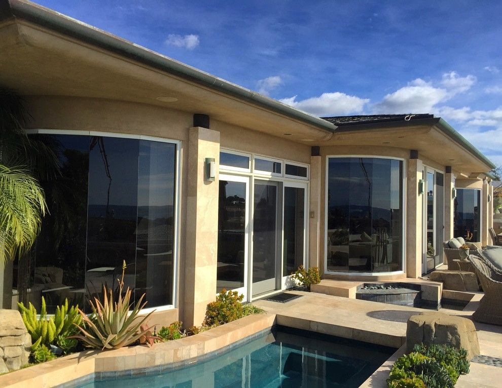 Tint Pros for a Transitional Pool with a Southern California Window Film and Our Work by the Tint Pros
