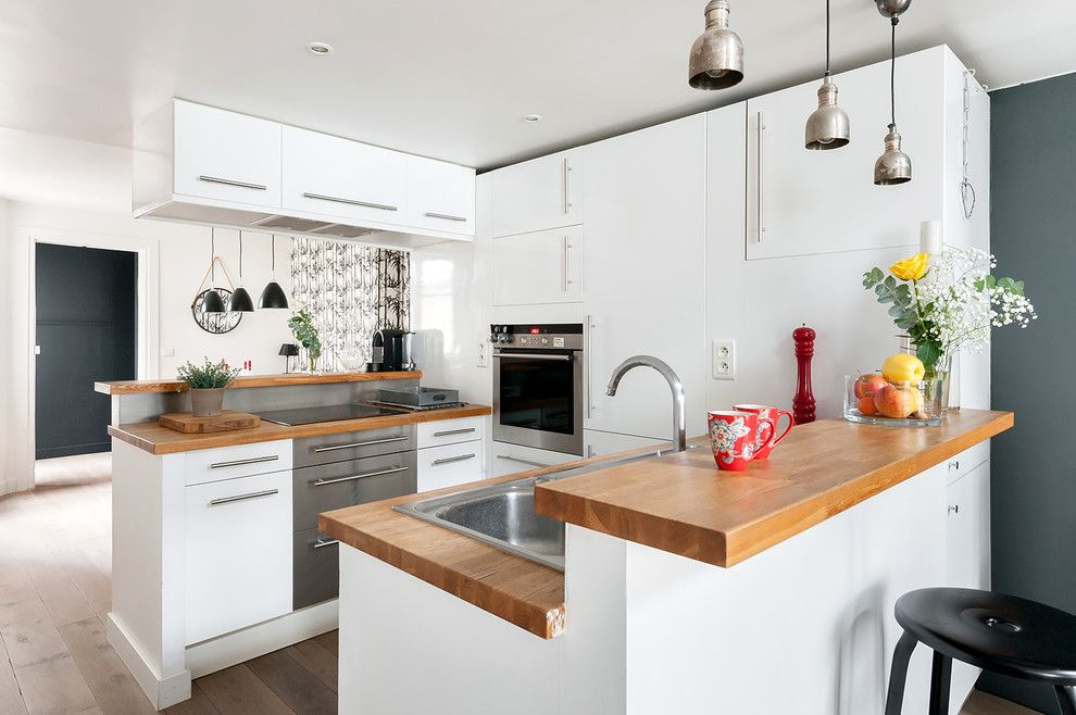 Tiny Houses for Sale in Pa for a Contemporary Kitchen with a Placard De Cuisine Suspendu and Duplex République by Am Alexandra Magne