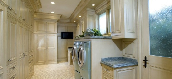Tiny Houses for Sale in Pa for a Traditional Laundry Room with a Wood Cabinets and Laundry Room by Details a Design Firm